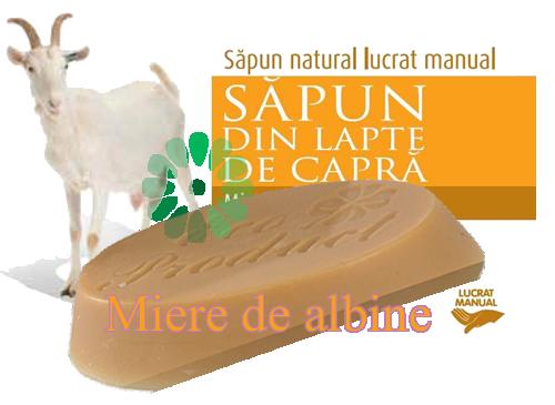 sapun lapte capra MIERE de ALBINE