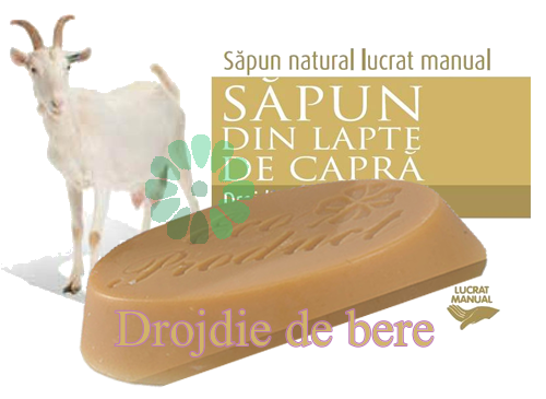 sapun lapte capra DROJDIE de BERE