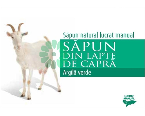 Sapun ARGILA VERDE cu lapte de capra